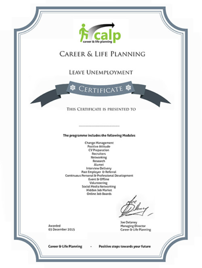 Leave Unemployment Programme Certificate